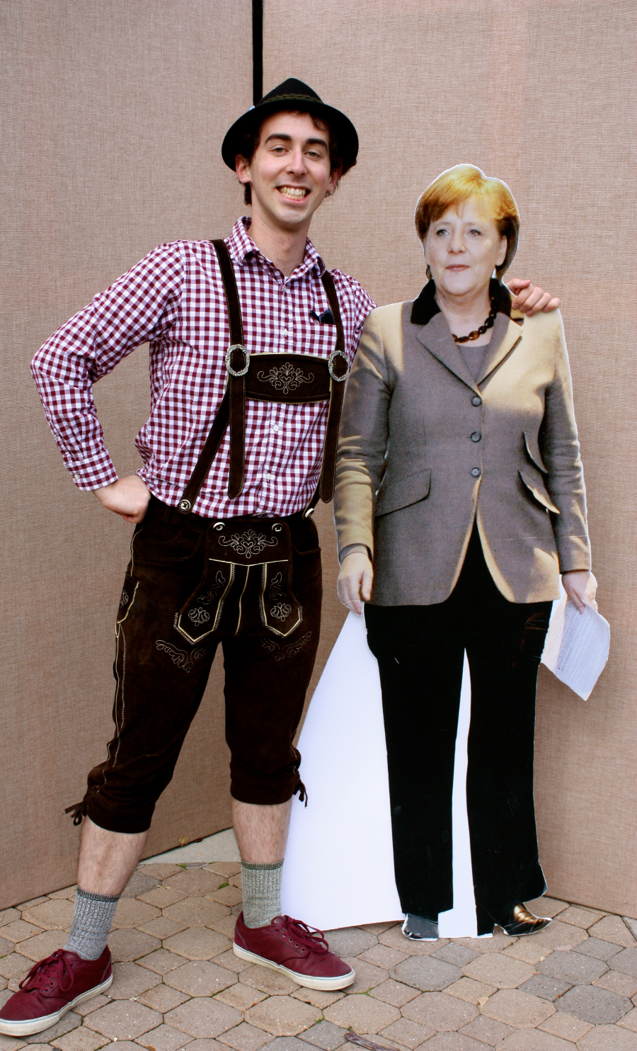 Attending BYU students dressed in traditional German costumes.