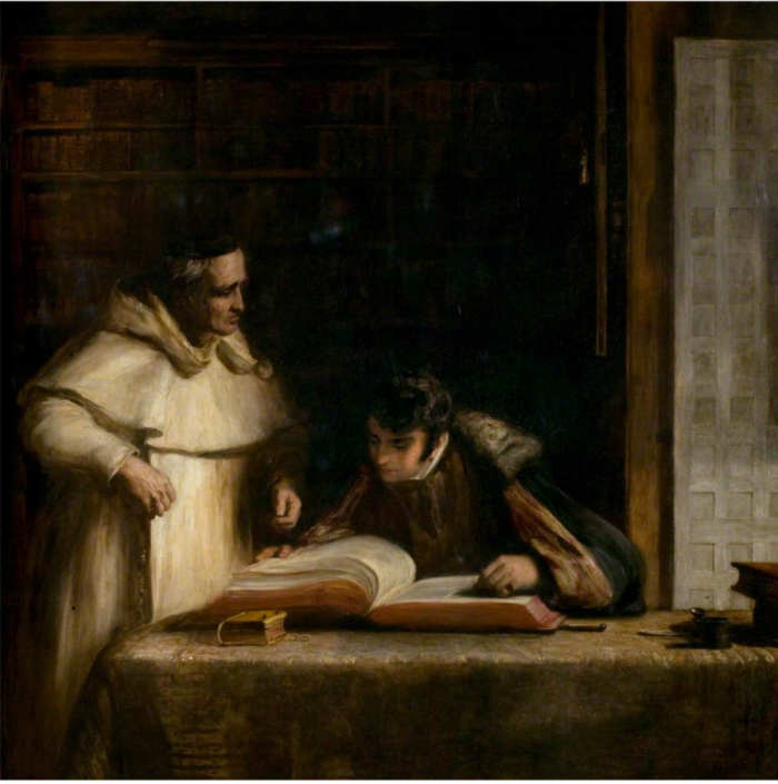 """Washington Irving in the Archives of Seville,"" David Wilkie (1828)"