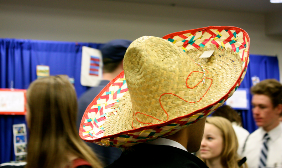Sombreros were seen aplenty at the Spanish Language Fair.