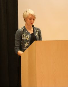 "Madeline Olsen reads her undergraduate winning essay, ""Waiting for Death"""